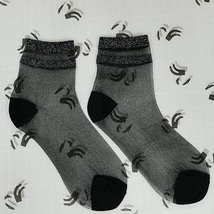 Jaded anklet sheer socks